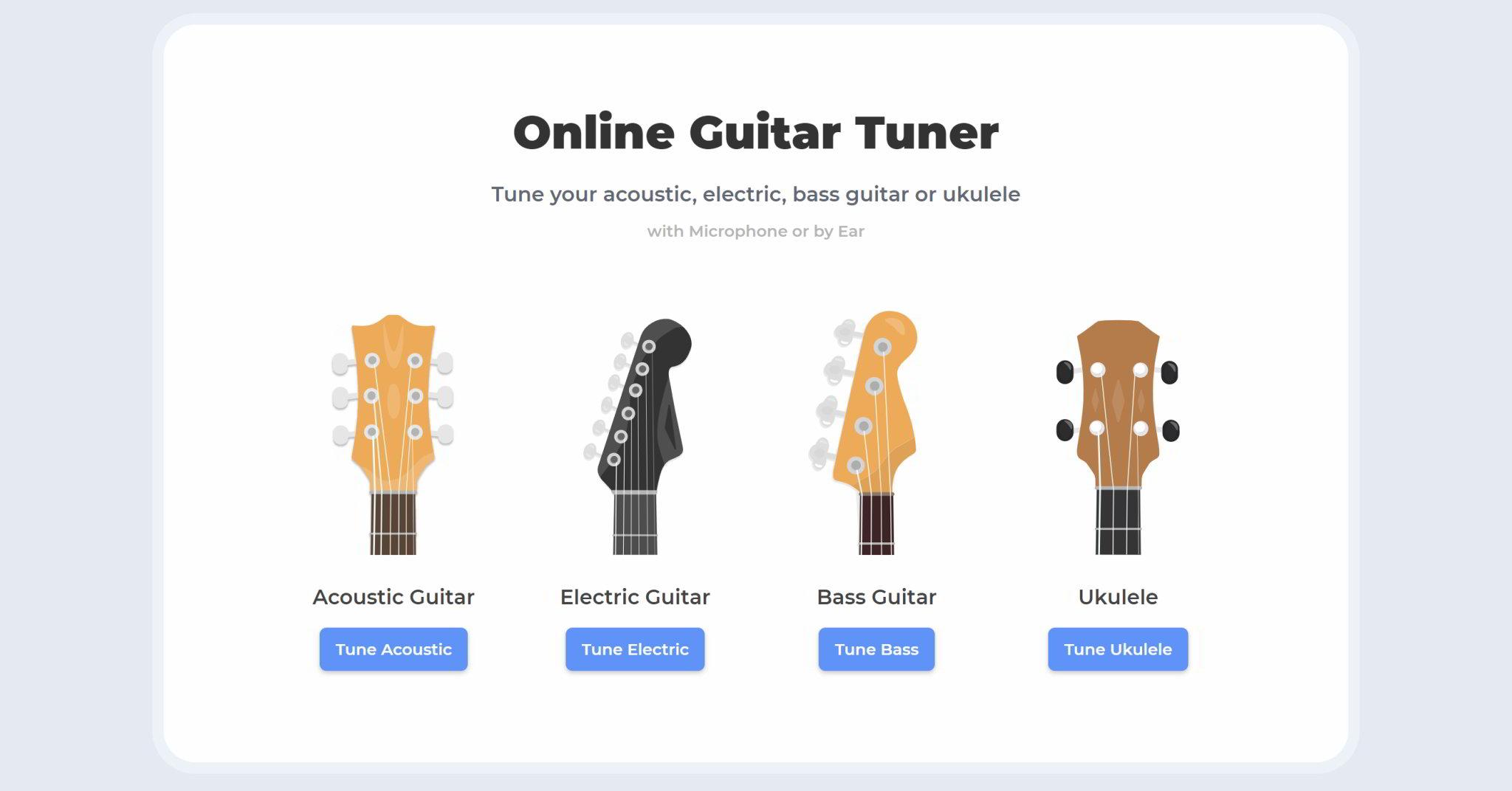 Pleasant Online Guitar Tuner