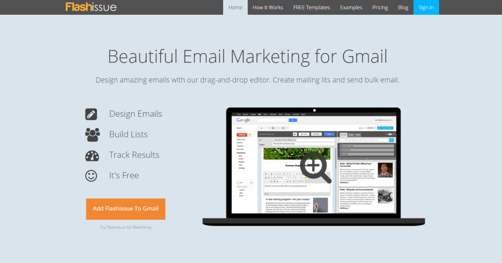 Flashissue for Gmail